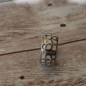 Coach enamel ring
